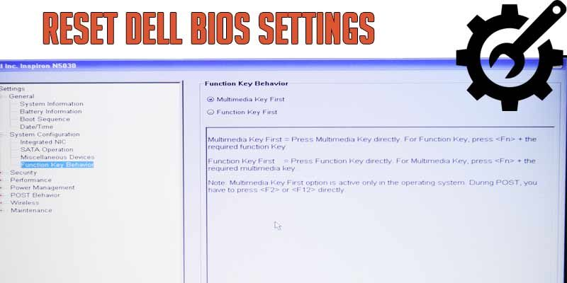 Dell BIOS configuration